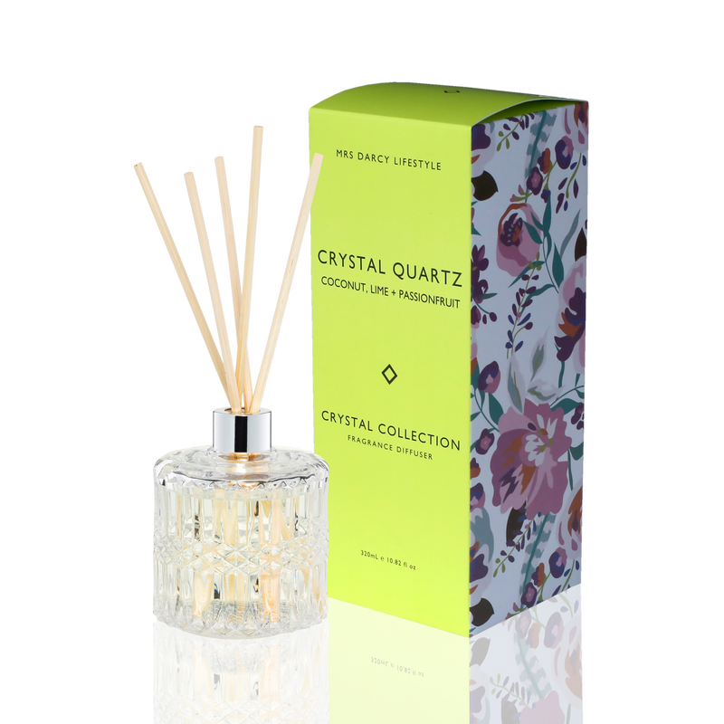 Diffuser Crystal Quartz -  Coconut, Lime + Passionfruit