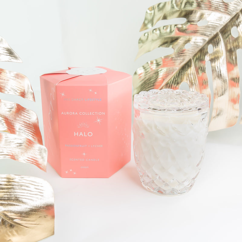 Aurora Candle – Halo – Passionfruit + Lychee