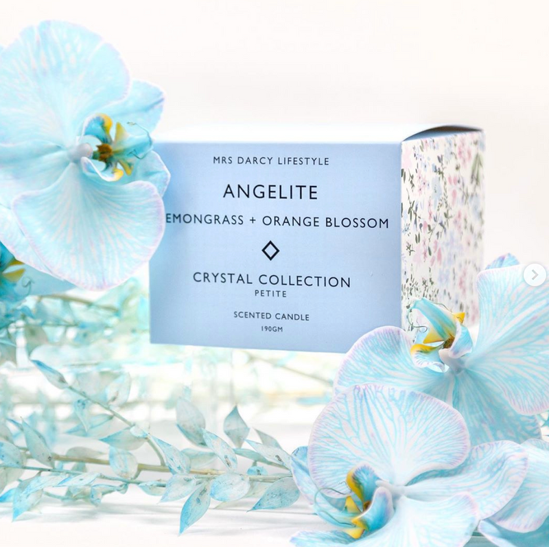Candle Angelite - Lemongrass + Orange Blossom (Petite)