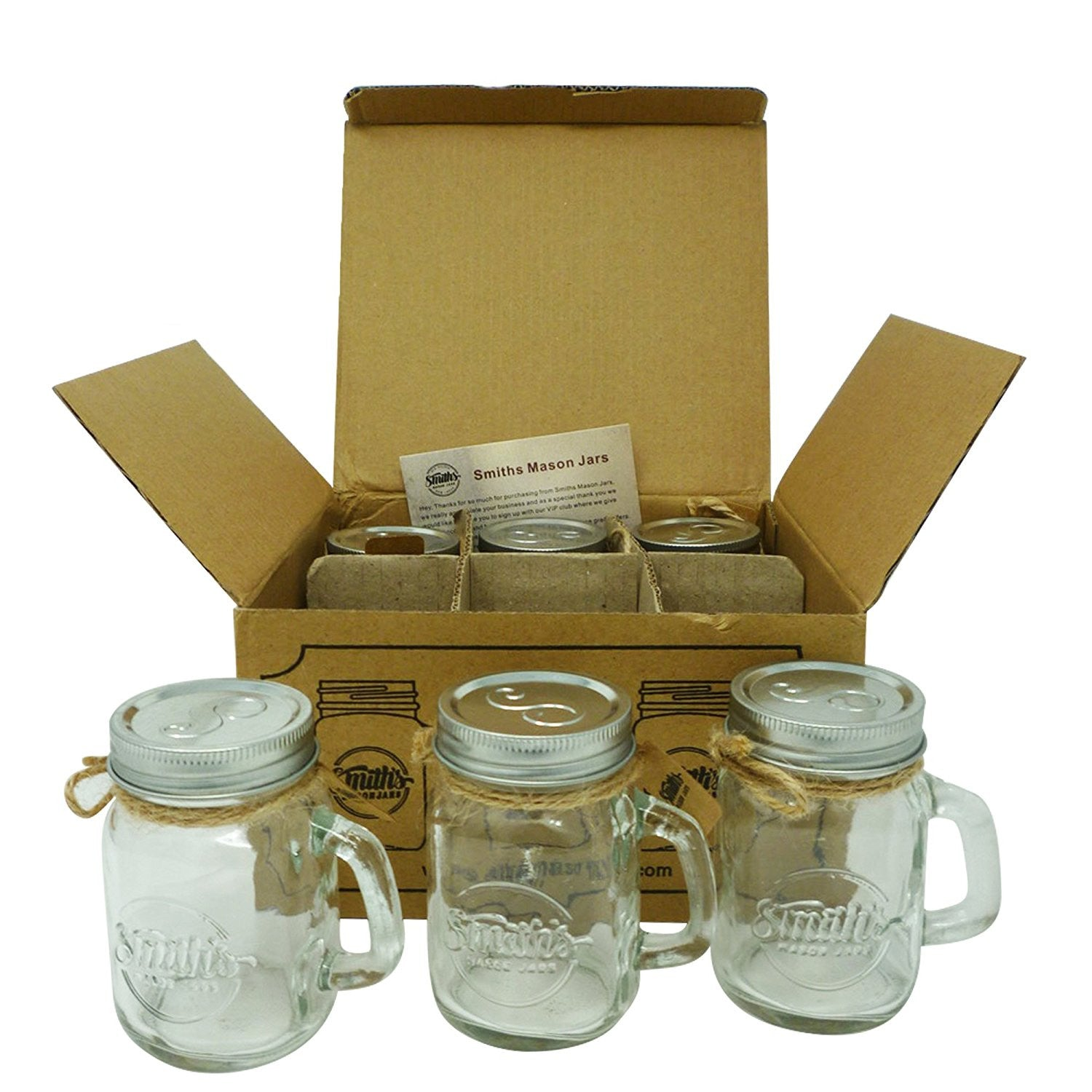 Smith's Mason Jars Mini Mason Jar Shot Glasses set of 6 Shot glasses 120 ml each
