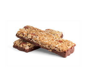 Caramel Granola Bars with Chocolate Coating