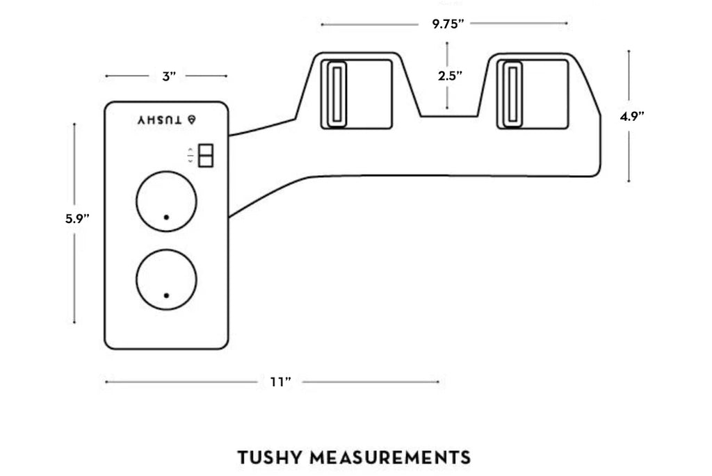What are TUSHY's measurements?