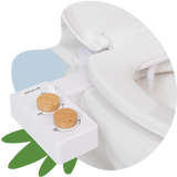 Tushy Spa 3.0 White / Bamboo-classic - a warm water bidet attachment by TUSHY