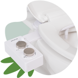 Tushy Spa 3.0 White / Platinum - a warm water bidet attachment by TUSHY