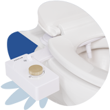 Tushy Classic 3.0 White / Gold-classic - a classic affordable bidet attachment by TUSHY