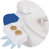 Tushy Spa 3.0 White / Gold-classic - a warm water bidet attachment by TUSHY