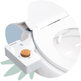 2020 Tushy Classic White / Bamboo - a classic affordable bidet attachment by TUSHY