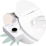 2020 Tushy Classic White / Gunmetal - a classic affordable bidet attachment by TUSHY