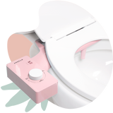 2020 Tushy Classic Pink / White - a classic affordable bidet attachment by TUSHY