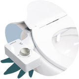 2020 Tushy Classic White / Platinum - a classic affordable bidet attachment by TUSHY