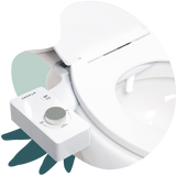 2020 Tushy Classic White / Silver - a classic affordable bidet attachment by TUSHY