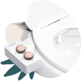 2020 Tushy Spa White / Bronze - a warm water bidet attachment by TUSHY