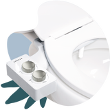 2020 Tushy Spa White / Platinum - a warm water bidet attachment by TUSHY