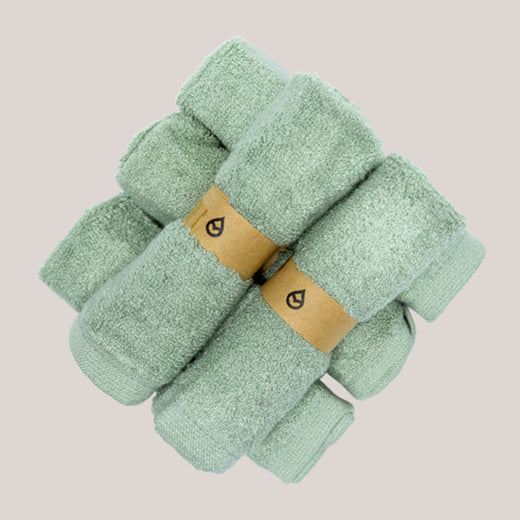 Featured - Tushy Towels Mint - 100% bamboo bidet towels