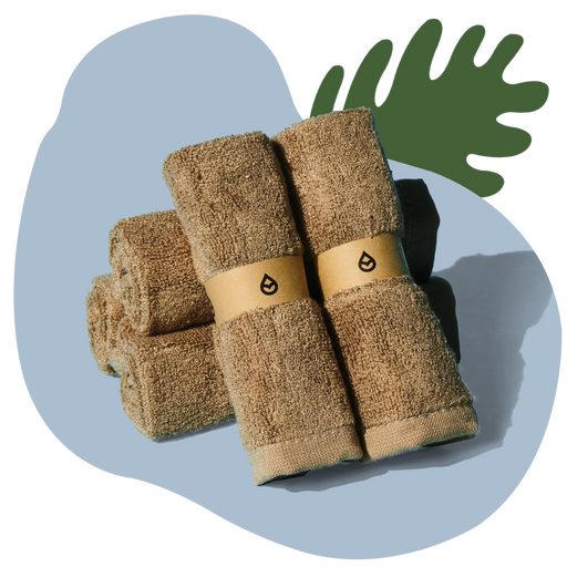 2020 - Tushy Towels Natural - 100% bamboo bidet towels