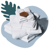 TUSHY Bamboo Towel Set White TUSHY bamboo bath sheet, bamboo bath towel, bamboo hand towel, and bamboo washcloth