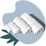 TUSHY Bamboo Towel Set White  bamboo bath sheet, bamboo bath towel, bamboo hand towel, and bamboo washcloth