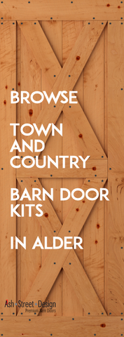 Town & Country Barn Door Kits in Alder (Knotty)