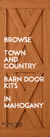 Town & Country Barn Door Kits in Mahogany