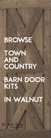 Town & Country Barn Door Kits in Walnut (Knotty)