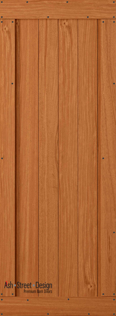 Town & Country Unassembled Barn Door Kit, KA Series,V-Plank in Mahogany* - Ash Street Design  - 1