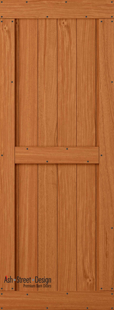 Town & Country Unassembled Barn Door Kit, KB Series, Mid-Style in Mahogany* - Ash Street Design  - 1