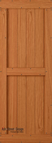 Town & Country Unassembled Barn Door Kit, KB Series, Mid-Style in Mahogany