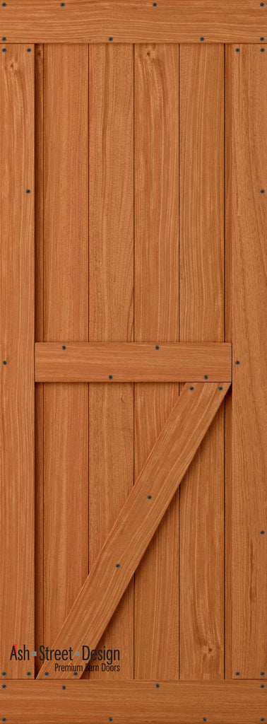 Town & Country Unassembled Barn Door Kit, KE Series, Bottom Z- in Mahogany* - Ash Street Design  - 1
