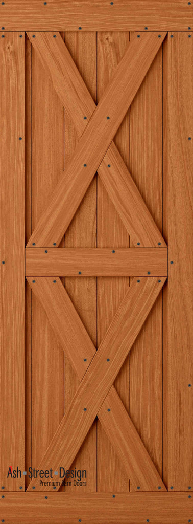 Town & Country Unassembled Barn Door Kit, KI Series, Twin-X in Mahogany* - Ash Street Design  - 1