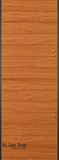 Horizontal Plank in Mahogany