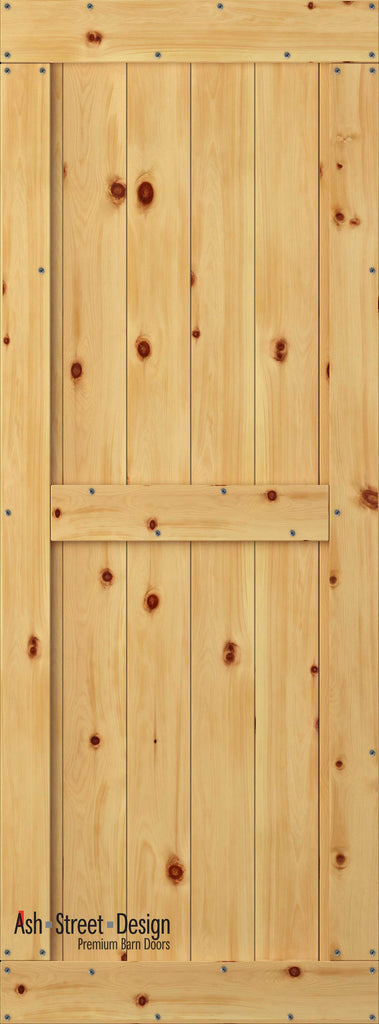 Town & Country Unassembled Barn Door Kit, KB Series, Mid-Style in Pine* - Ash Street Design  - 1