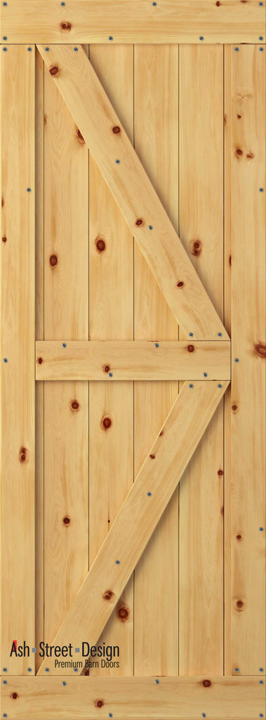 Town & Country Unassembled Barn Door Kit, KC Series, Colonial in Pine* - Ash Street Design  - 1