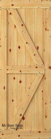 Town & Country Unassembled Barn Door Kit, KC Series, Colonial in Pine*
