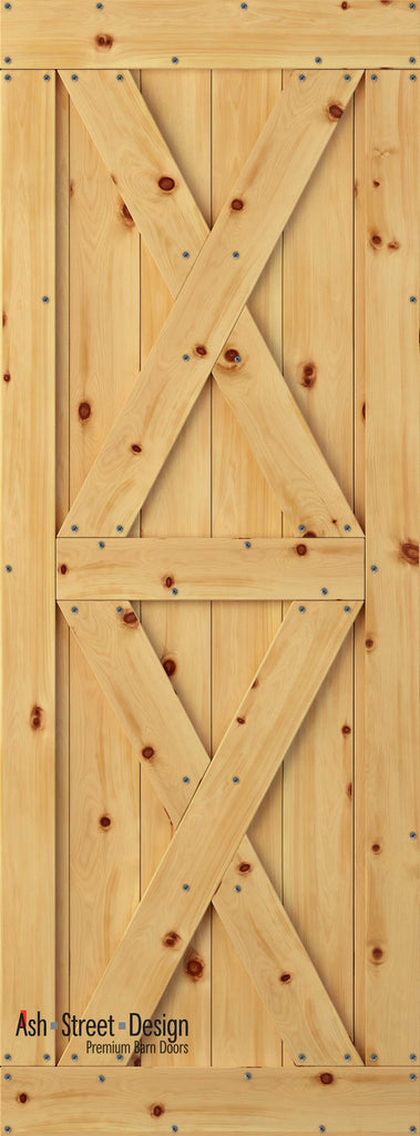 Town & Country Unassembled Barn Door Kit, KI Series, Twin-X in Pine* - Ash Street Design  - 1