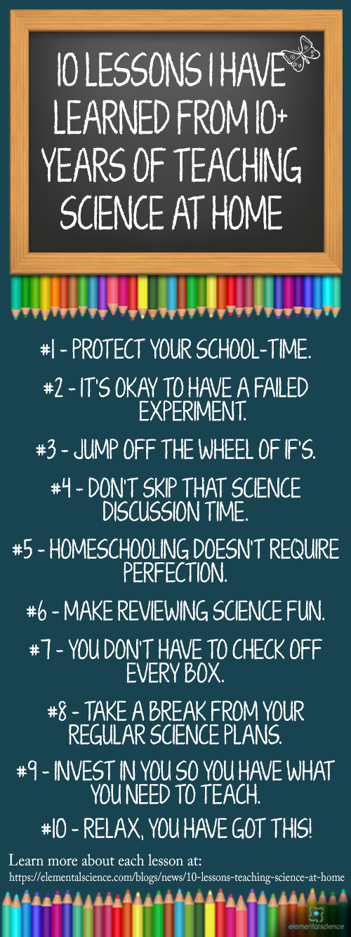 These 10 lessons will help your homeschool run smoother and encourage you as you teach science at home