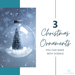 Decorate your tree using these scientific Christmas ornament ideas from Elemental Science.