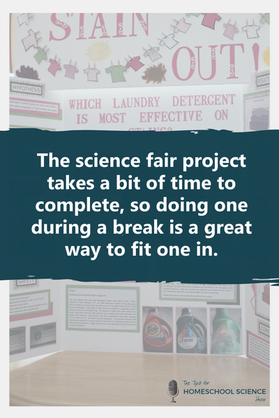 The science fair project takes a bit of time to complete, so doing one during a break is a great way to fit one in. These three tips will help you do just that!
