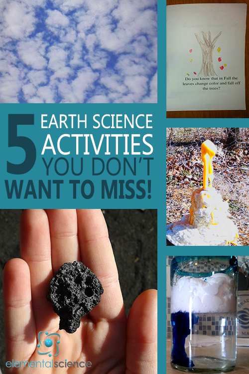 Don't miss doing these 5 earth science activities in your homeschool!