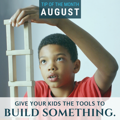 Give your kids the tools and let them build something. Get a few ideas of what you can build in this homeschool science tip of the month from Elemental Science.