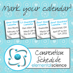 Elemental Science's 2015 Convention Schedule