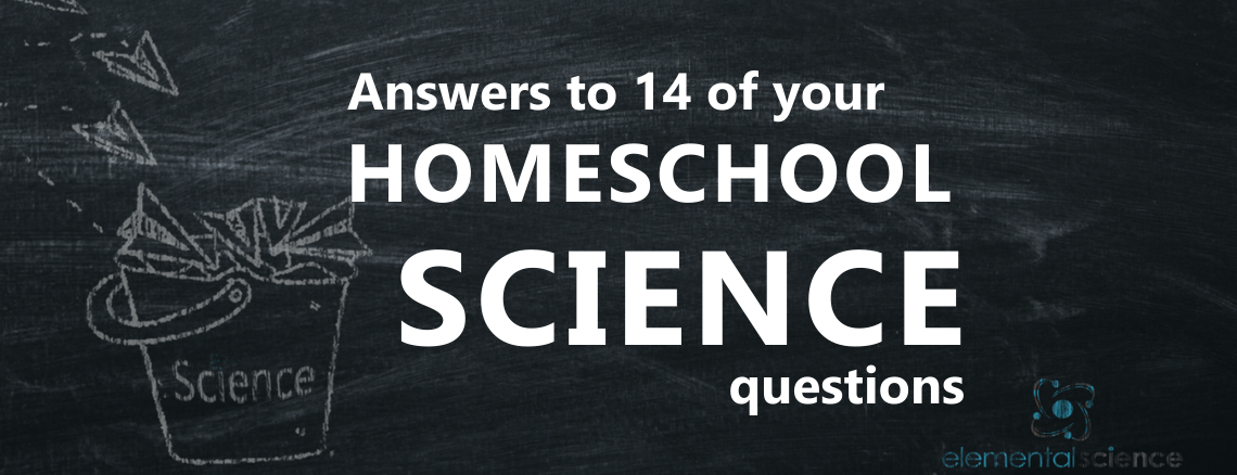 Be encouraged and equipped as you listen to the answers to 14 of the most common homeschool science questions.