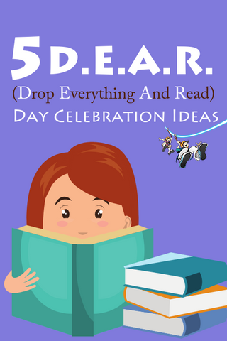 Stop what you are doing, drop what is in your hands, grab a book, and start reading! And don't forget to come celebrate DEAR Day with us!