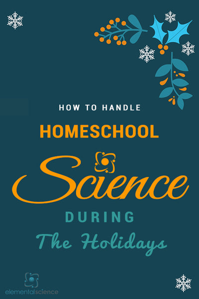 Wondering how you can handle homeschool science in the midst of the holiday craziness? Here are a few options for you!