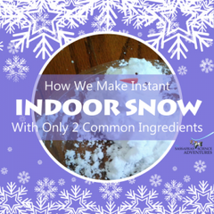 How we make instant indoor snow with only 2 common ingredients