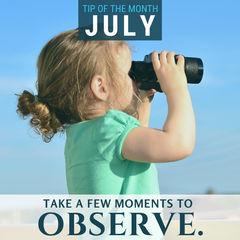This month, take a few moments to observe.