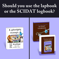 Should you use the SCIDAT logbook or the lapbook? {Sassafras Science Questions}