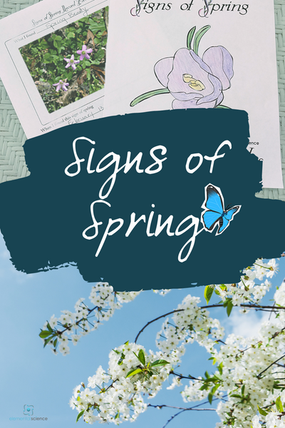 """Keeping a """"Signs of Spring"""" reference journal can help you anticipate the arrival of the best season of the year - download this free printable journal from Elemental Science to get started."""