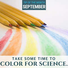 Take some time to color for science. Learn why in this Tips for Homeschool Science podcast tip from Elemental Science.
