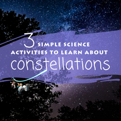 The Sassafras Science twins are back to share with you three simple science activities you can use to learn about constellations. {FREE Constellation Cards printable included}