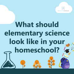 Get a peek at what elementary science should look like in a homeschool. You will learn your goals and the tools you can use, along with how to put it altogether.